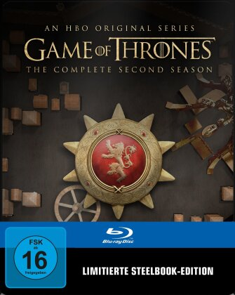 Game of Thrones - Staffel 2 (inkl. Magnet Siegel, Limited Edition, Steelbook, 5 Blu-rays)