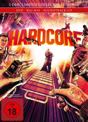Hardcore (2015) (Limited Collector's Edition, Mediabook, Blu-ray + DVD + CD)