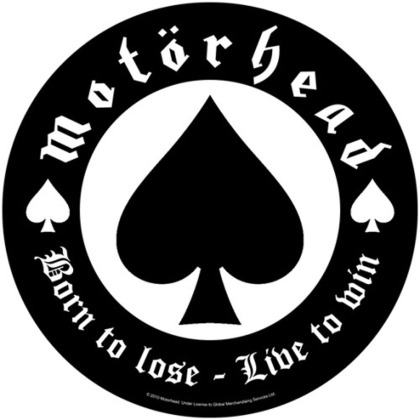 Motorhead Back Patch - Born To Lose / black [onesize]