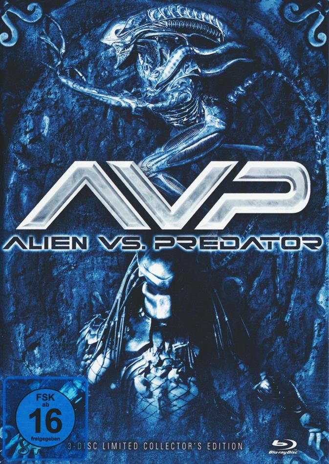 Alien vs. Predator (2004) (Cover B, Collector's Edition, Limited Edition, Mediabook, Blu-ray + 2 DVDs)