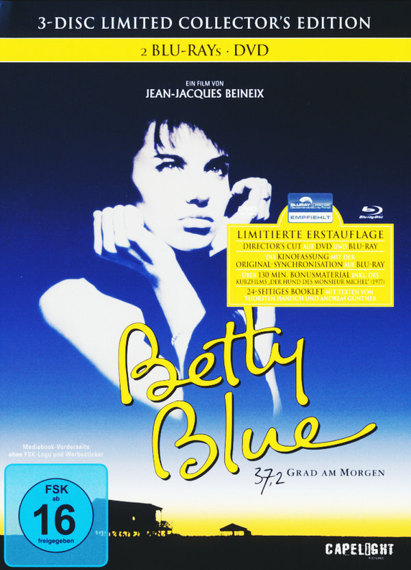 Betty Blue (1986) - 37,2 Grad am Morgen (Director's Cut, Limited Collector's Edition, Mediabook, 2 Blu-rays & DVD)