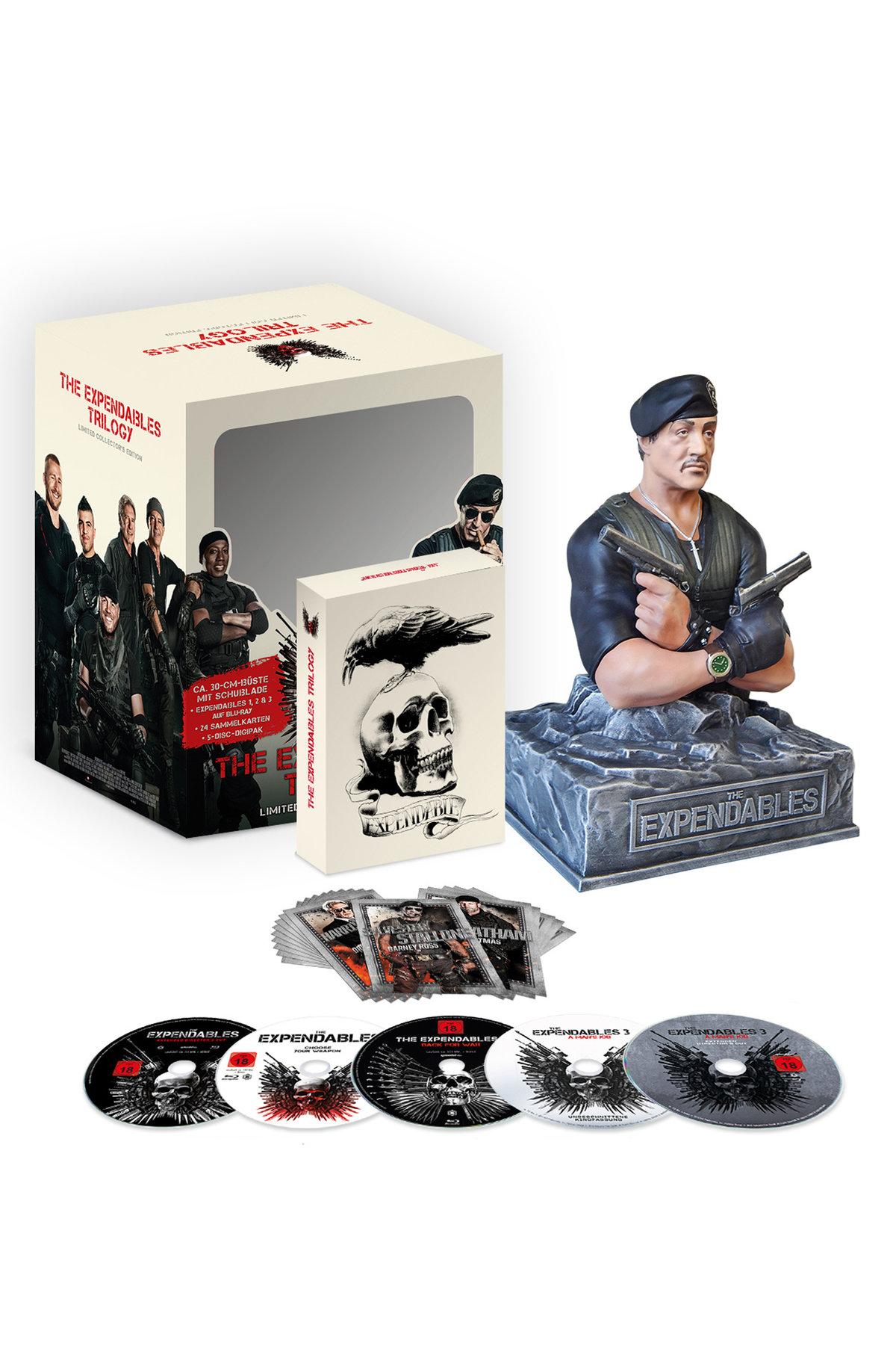 The Expendables - Trilogie (mit Büste, Limited Collector's Edition, 5 Blu-rays)