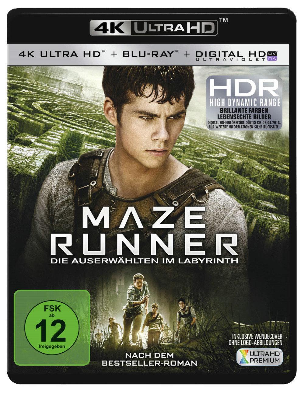 Maze Runner 4K (2014) - Die Auserwählten im Labyrinth (4K Ultra HD & Blu-ray)