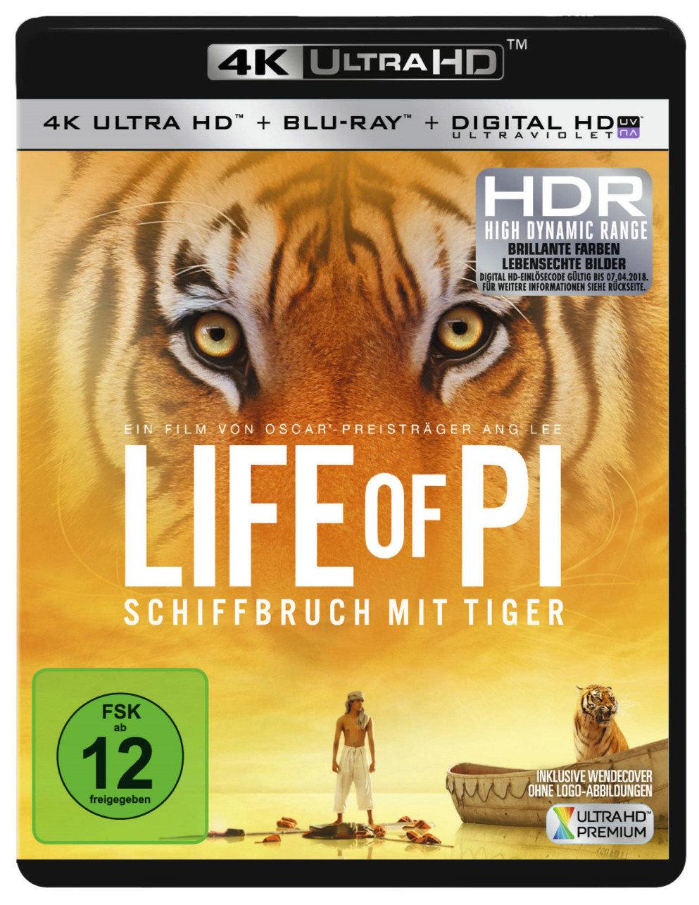 Life of Pi - Schiffbruch mit Tiger 4K (2012) - (4K Ultra HD & Blu-ray)