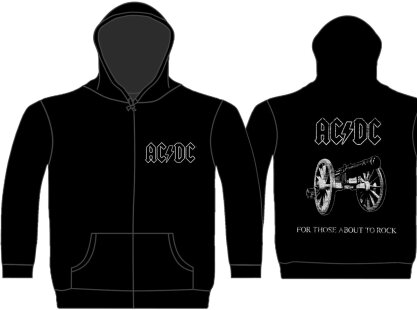 AC/DC - For Those About To Rock Zipped Hoodie