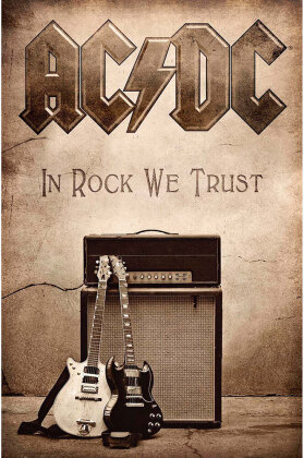 AC/DC - In Rock We Trust Textil Poster