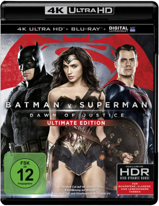 Batman v Superman - Dawn of Justice (2016) (Extended Edition, Kinoversion, Ultimate Edition, 4K Ultra HD + Blu-ray)