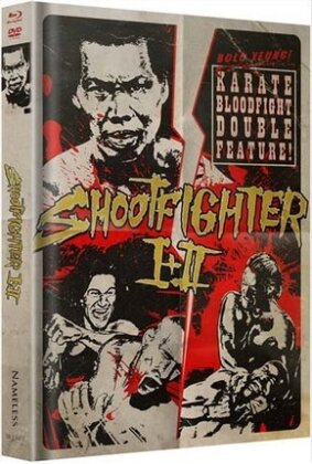 Shootfighter 1 + 2 (T-Shirt Grösse XL, Limited Edition, Uncut, Mediabook, 2 Blu-rays + 2 DVDs)