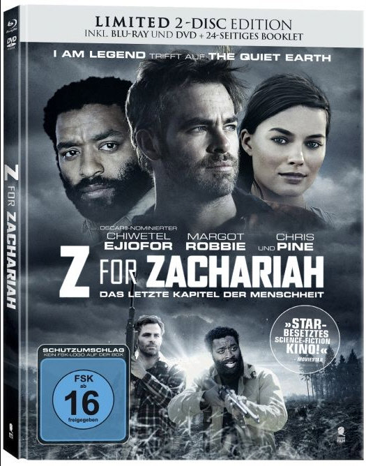 Z for Zachariah (2015) - (Limited Edition, Mediabook, Blu-ray & DVD)
