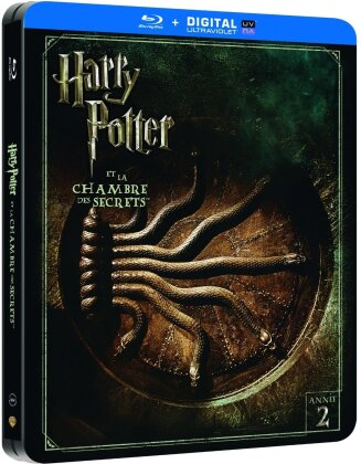 Harry Potter et la chambre des secrets (2002) (Steelbook, Kinoversion, Limited Edition, Langfassung, 2 Blu-rays)