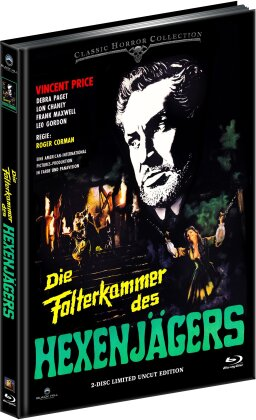Die Folterkammer des Hexenjägers (1963) (Cover A, Classic Horror Collection, Limited Edition, Mediabook, Uncut, Blu-ray + DVD)