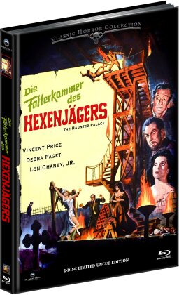 Die Folterkammer des Hexenjägers (1963) (Cover B, Classic Horror Collection, Limited Edition, Mediabook, Uncut, Blu-ray + DVD)