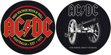 AC/DC Slipmat Set - For Those About To Rock / High Voltage