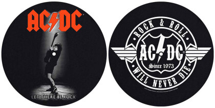 AC/DC Slipmat Set - Let There Be Rock/Rock & Roll