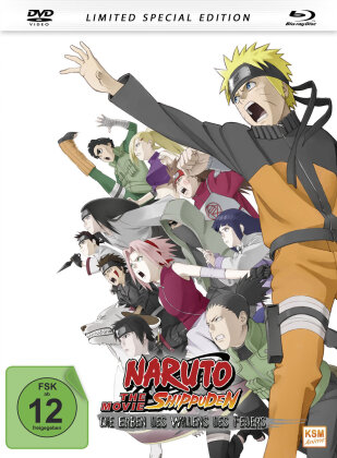 Naruto Shippuden - The Movie - Die Erben des Willens des Feuers (2009) (Limited Special Edition, Mediabook, Blu-ray + DVD)