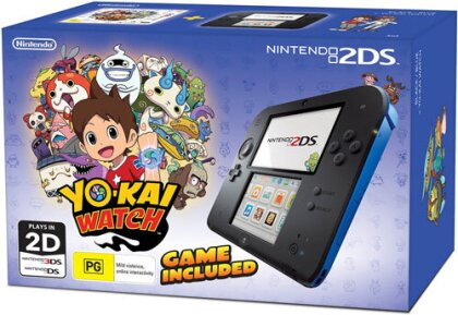 2DS Console inkl. YO-KAI WATCH - Blue