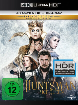 The Huntsman & the Ice Queen (2016) (Extended Edition, Kinoversion, 4K Ultra HD + Blu-ray)