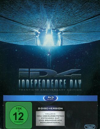 Independence Day (1996) (Extended Cut, Kinoversion, Remastered, 20th Anniversary Edition, Steelbook, 2 Blu-rays)