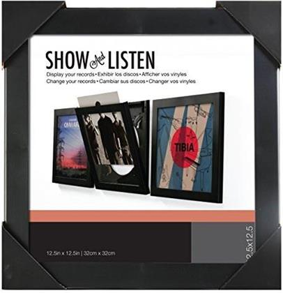 Show And Listen Vinyl Record Frame [32x32 cm] - black