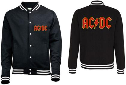 AC/DC - Classic Logo with Back Printing Men's Varsity Jacket