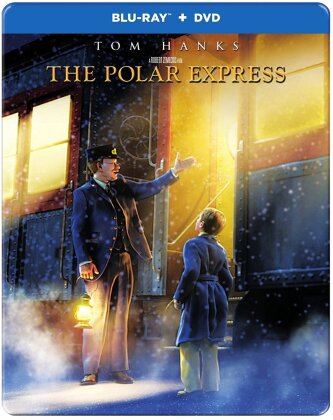 The Polar Express (2004) (Steelbook, Blu-ray + DVD)