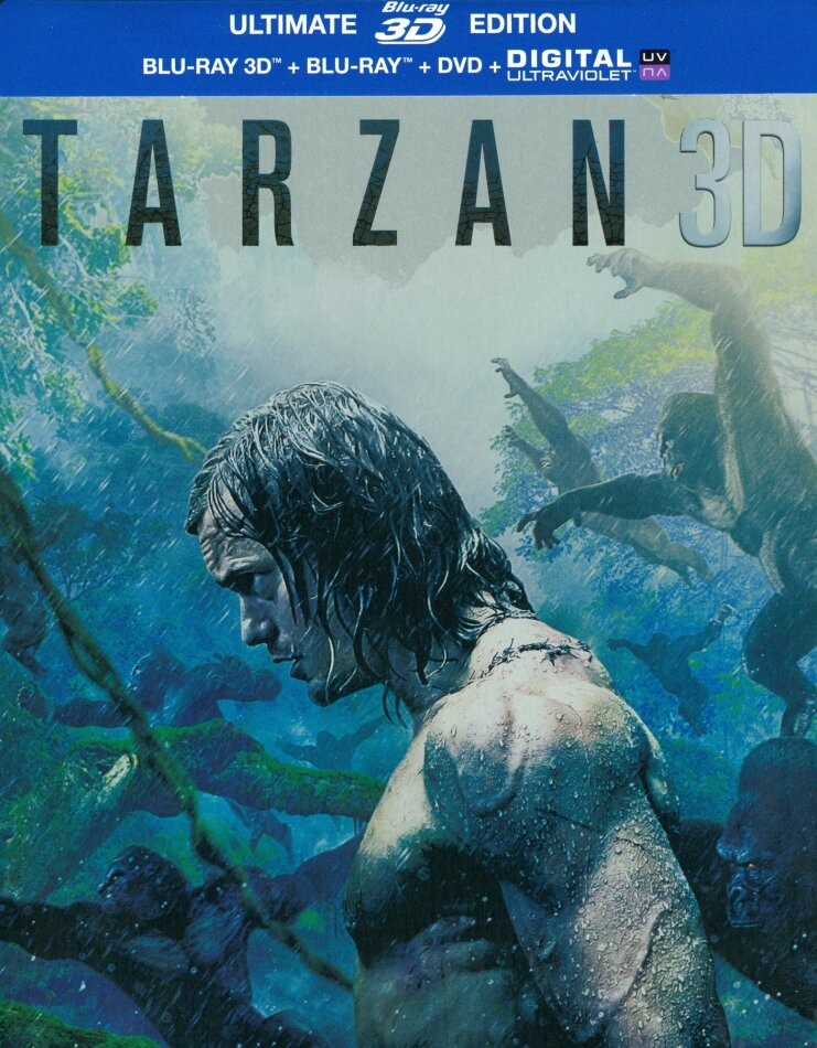 Tarzan (2016) (Steelbook, Ultimate Edition, Blu-ray 3D + Blu-ray + DVD)