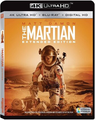 Martian (2015) (Extended Cut, Extended Edition, Blu-ray + 4K Ultra HD)