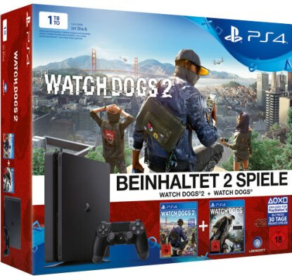 Sony PlayStation 4 Slim 1TB + Watch Dogs 2 Bundle