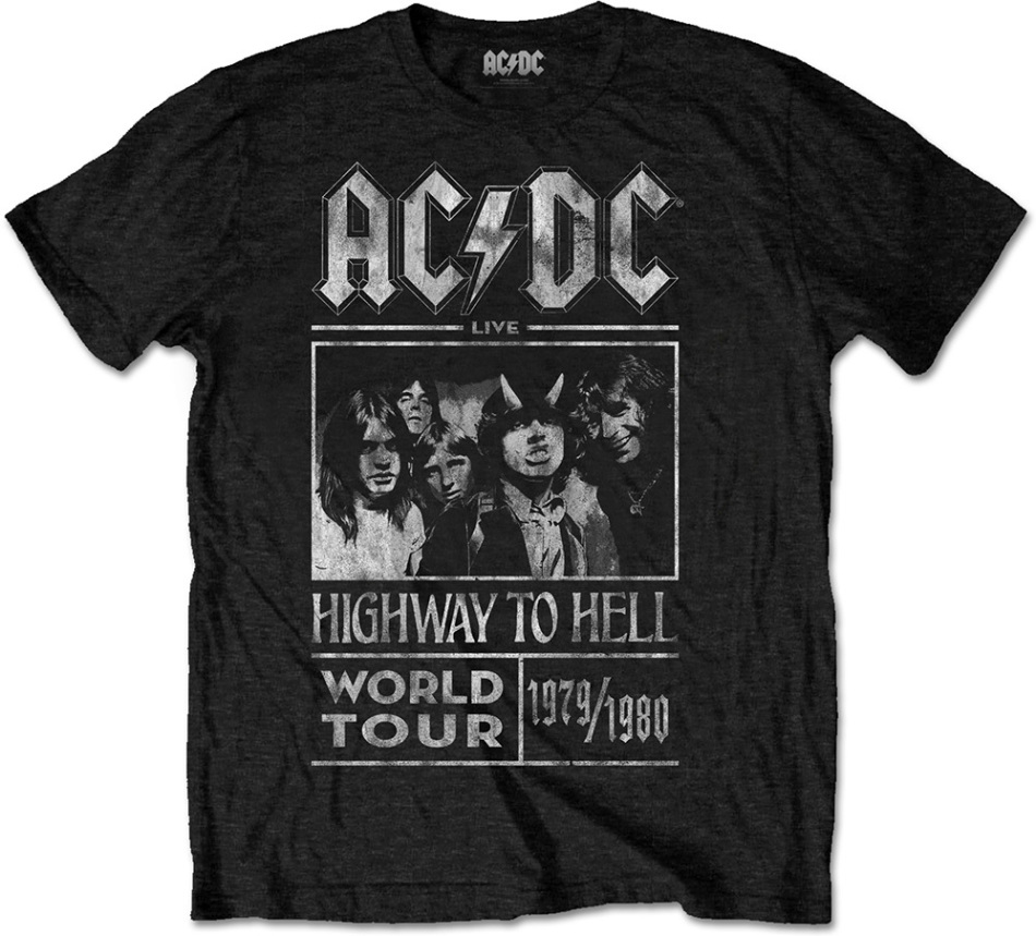 AC/DC - Highway To Hell World Tour 1979/1980 Men's T-Shirt - Grösse M