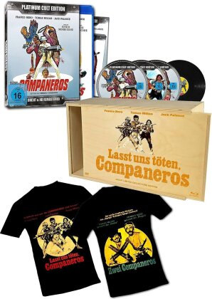 Companeros (1970) (T-Shirt, Remastered, Uncut, Holzbox, CD + Blu-ray + 2 DVDs)