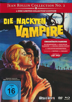 Die Nackten Vampire (1970) (Cover B, Jean Rollin Collection, Collector's Edition, Limited Edition, Uncut, Mediabook, Blu-ray + DVD)