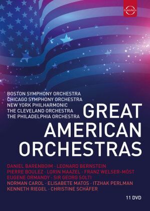 Various Artists - Great American Orchestras (Euro Arts, 11 DVDs)