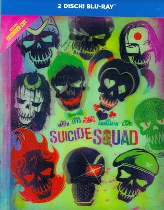 Suicide Squad (2016) (Extended Cut, Lenticular, Versione Cinema, Mediabook, 2 Blu-ray)