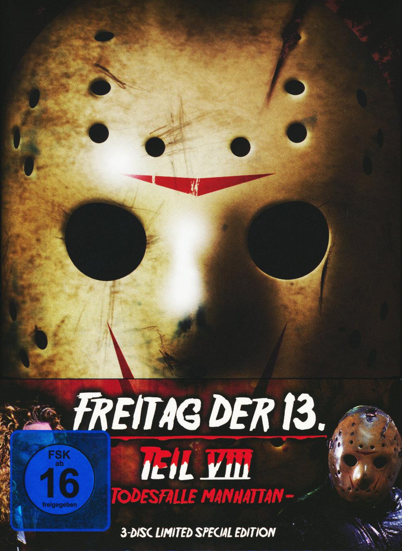 Freitag der 13. - Teil 8 (1989) - Todesfalle Manhattan (Limited Special Edition, Mediabook, Blu-ray & 2 DVDs)