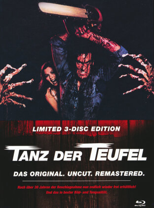 Tanz der Teufel (1981) (Cover B, Limited Edition, Mediabook, Remastered, Uncut, 3 Blu-rays)