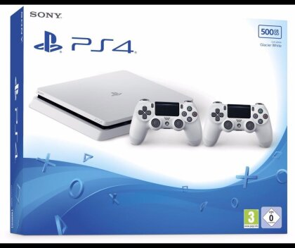 Sony Playstation 4 500GB SLIM weiß + 2 Controller