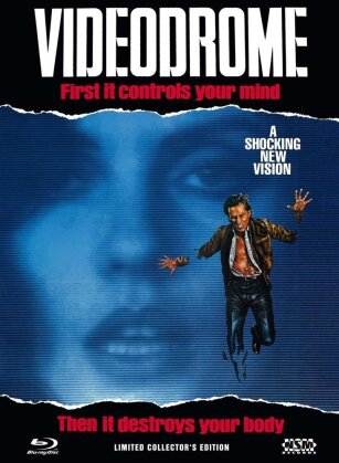 Videodrome (1983) (Cover A, Collector's Edition, Director's Cut, Kinoversion, Limited Edition, Mediabook, Uncut, Unrated, Blu-ray + DVD)