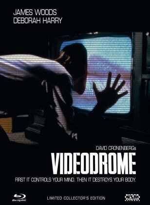 Videodrome (1983) (Cover B, Director's Cut, Kinoversion, Limited Collector's Edition, Mediabook, Blu-ray + 2 DVDs)