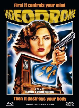 Videodrome (1983) (Cover C, Unrated Director's Cut, Mediabook, Blu-ray + DVD)