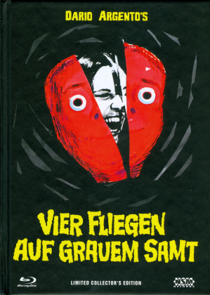 Vier Fliegen auf grauem Samt (1971) (Cover A, Collector's Edition, Limited Edition, Mediabook, Uncut, Blu-ray + 2 DVDs)