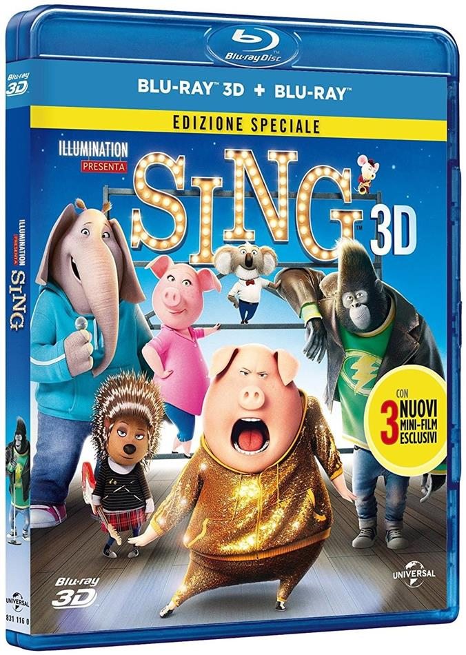 Sing (2016) (Special Edition, Blu-ray 3D + Blu-ray)
