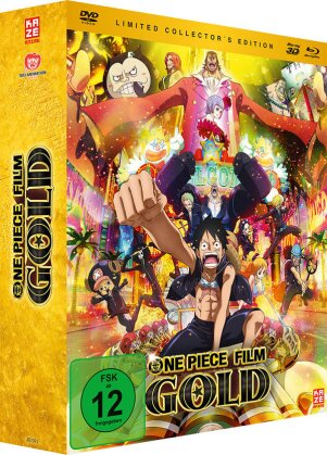 One Piece - Der 12. Film - Gold (2016) (Limited Collector's Edition, Blu-ray 3D + Blu-ray + DVD)