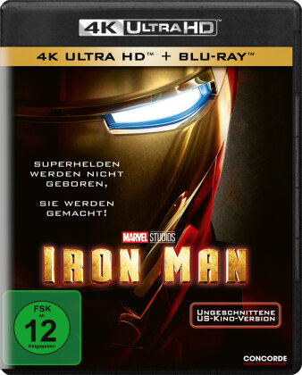 Iron Man (2008) (Uncut, 4K Ultra HD + Blu-ray)