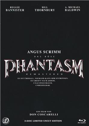 Phantasm (1979) (Cover B, Limited Edition, Mediabook, Uncut, Blu-ray + 2 DVDs)