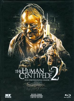 The Human Centipede 2 - Full Sequence (2011) (Color Version, Limited Edition, Mediabook, Uncut, Blu-ray + DVD)