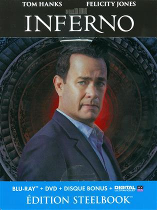 Inferno (2016) (Limited Edition, Steelbook, 2 Blu-rays + DVD)