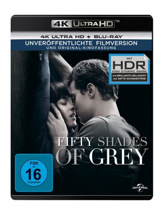 Fifty Shades of Grey (2015) (Unveröffentlichte Filmversion, Original-Kinofassung, 4K Ultra HD + Blu-ray)
