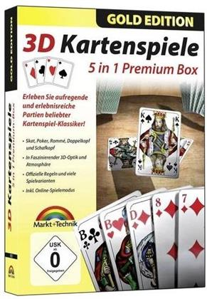3D Kartenspiele - 5 in1 Premium Box (Gold Edition)