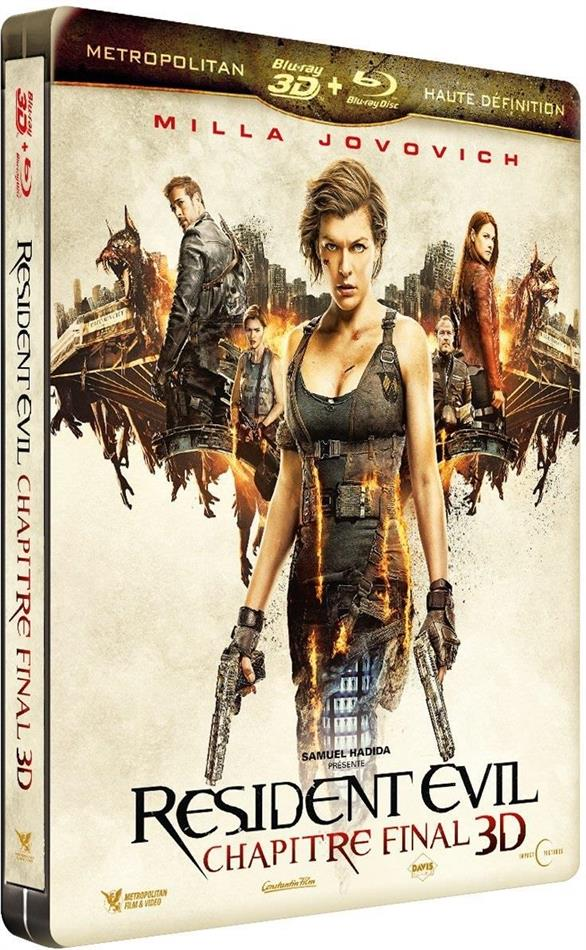 Resident Evil 6 - Chapitre final (2016) (Limited Edition, Steelbook, Blu-ray 3D + Blu-ray)