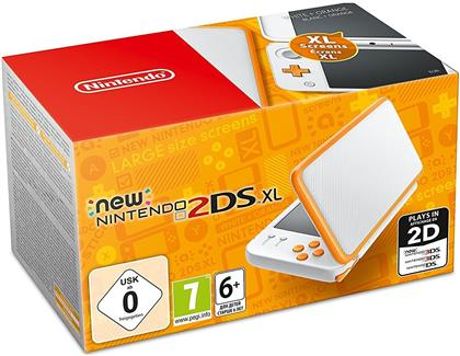 Nintendo 2DS XL Console White + Orange